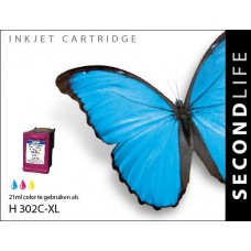 SecondLife compatible inktcartridge HP nr.302XL kleur (F6U67AE)