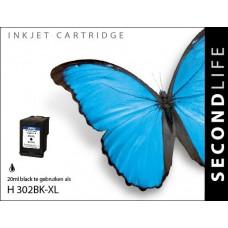 SecondLife compatible inktcartridge HP nr.302XL zwart (F6U68AE)
