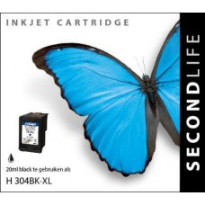 SecondLife compatible inktcartridge HP nr.304XL zwart (N9K08AE)