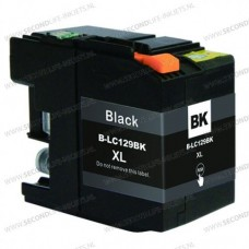 SecondLife compatible inktcartridge Brother LC-129XLBK zwart