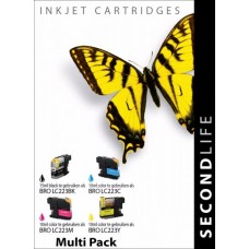 SecondLife compatible inktcartridge multipack Brother LC-223