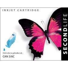 SecondLife compatible inktcartridge Canon BCi-3eC & BCi-6C cyaan