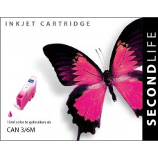 SecondLife compatible inktcartridge Canon BCi-3eM & BCi-6M magenta