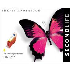 SecondLife compatible inktcartridge Canon BCi-3eY & BCi-6Y geel