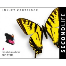 SecondLife compatible inktcartridge Brother LC-123M magenta