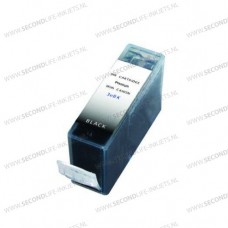 SecondLife compatible inktcartridge Canon BCi-3eBK zwart