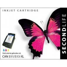 SecondLife compatible inktcartridge Canon CL-511 / CL-513 kleur