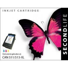 SecondLife compatible inktcartridge Canon CL-511 / CL-513 kleur
