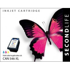 SecondLife compatible inktcartridge Canon CL-546XL kleur