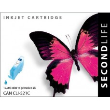 SecondLife compatible inktcartridge Canon CLi-521C cyaan