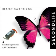 SecondLife compatible inktcartridge Canon CLi-526BK zwart