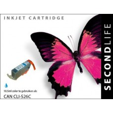 SecondLife compatible inktcartridge Canon CLi-526C cyaan