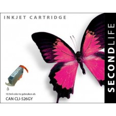 SecondLife compatible inktcartridge Canon CLi-526GY grijs