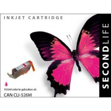 SecondLife compatible inktcartridge Canon CLi-526M magenta