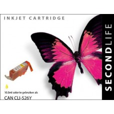 SecondLife compatible inktcartridge Canon CLi-526Y geel