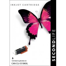 SecondLife compatible inktcartridge Canon ClI-551XLBK zwart