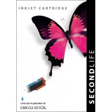 SecondLife compatible inktcartridge Canon ClI-551XLC cyaan