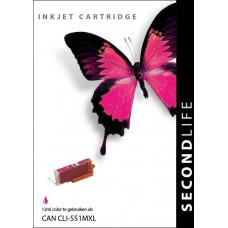 SecondLife compatible inktcartridge Canon Cli-551XLM magenta