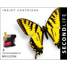 SecondLife compatible inktcartridge Brother LC-225XLM magenta