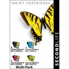 SecondLife compatible inktcartridge multipack Brother LC-985