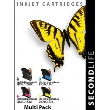 SecondLife compatible inktcartridge multipack Brother LC-123