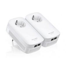 TP-Link Powerline AV1000 Starter Kit met 2 netwerkaansluitingen en stopcontact