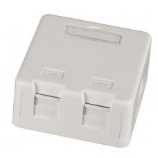 Montagebox voor 2 keystone jacks